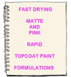 Fast Drying Pink And Matte Rapid Topcoat Paint Formulation And Production