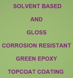 Solvent Based And Gloss Corrosion Resistant Green Epoxy Topcoat Coating Formulation And Production