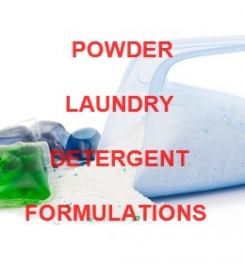 POWDER LAUNDRY DETERGENT FORMULATIONS AND MANUFACTURING PROCESS