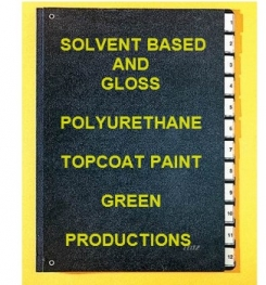 Solvent Based And Gloss Polyurethane Topcoat Paint Green Formulation And Production