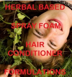 Herbal Based Spray Foam Hair Conditioner Formulation And Production