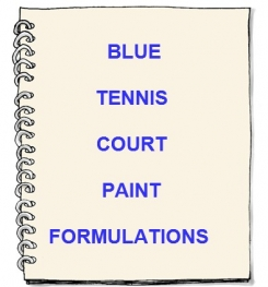 Blue Tennis Court Paint Formulation And Production