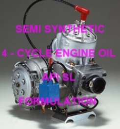 SEMI SYNTHETIC 4 - CYCLE ENGINE OIL API SL FORMULATION AND PRODUCTION PROCESS