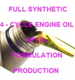FULL SYNTHETIC 4 - CYCLE ENGINE OIL API SL FORMULATION AND PRODUCTION PROCESS