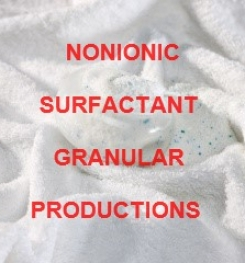 Nonionic Surfactant Granular Production Process