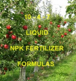 10 - 4 - 7 LIQUID FOLIAR AND DRIPPING NPK FERTILIZER FORMULATIONS AND MANUFACTURING PROCESSES