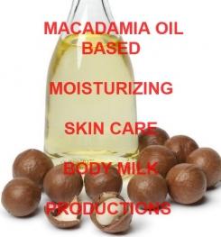 Macadamia Oil Based Moisturizing Skin Care Body Milk Formulation And Production
