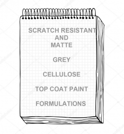 Scratch Resistant And Matte Grey Cellulosic Top Coat Paint Formulation And Production