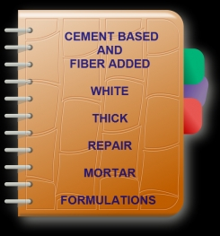 Cement Based And Fiber Added White Thick Repair Mortar Formulation And Production