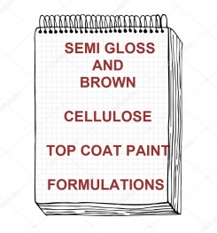 Semi Gloss Brown Cellulosic Top Coat Paint Formulation And Production