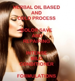 Herbal Oil Based And Cold Process Color Save And Repairing Intense Mild Conditioner Formulation And Production