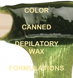 Color Canned Depilatory Wax Formulation And Production