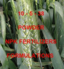 10 - 5 - 38 POWDER FOLIAR AND DRIPPING NPK FERTILIZER FORMULATIONS AND MANUFACTURING PROCESSES