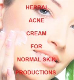 Herbal Acne Cream For Normal Skin Formulation And Production