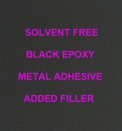 Two Component And Solvent Free Black Epoxy Metal Adhesive Added Filler Formulation And Production