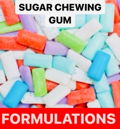 Sugar Chewing Gum Formulation And Production