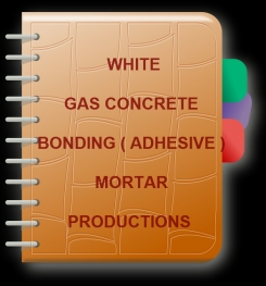White Gas Concrete Bonding ( Adhesive ) Mortar Formulation And Production
