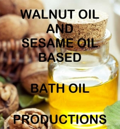 Walnut Oil And Sesame Oil Based Bath Oil Formulation And Production