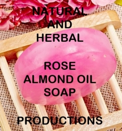 Natural And Herbal Rose Almond Oil Soap Formulation And Production