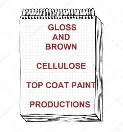 Gloss Brown Cellulosic Top Coat Paint Formulation And Production