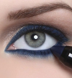 Dark Blue Color Permanent And Gloss Eyeliner Formulation And Production
