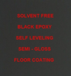 Two Component And Solvent Free Black Epoxy Self Leveling Semi - Gloss Floor Coating Formulation And Production