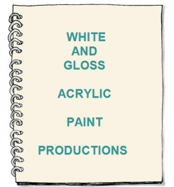 White And Gloss Acrylic Paint Formulation And Production