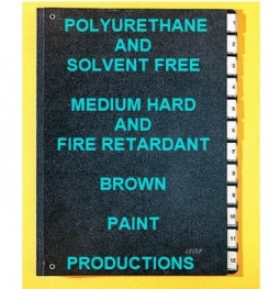 Polyurethane Based And Solvent Free Medium Hard And Fire Retardant Brown Paint Formulation And Production