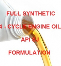 FULL SYNTHETIC 4 - CYCLE ENGINE OIL API SJ FORMULATION AND PRODUCTION PROCESS