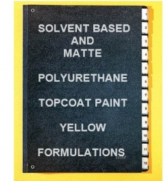 Solvent Based And Matte Polyurethane Topcoat Paint Yellow Formulation And Production